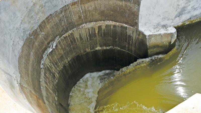 Renovated drop-cum-siphon on Sakkara canal at Kalvirayanpettai near Thanjavur. (Photo: DC)
