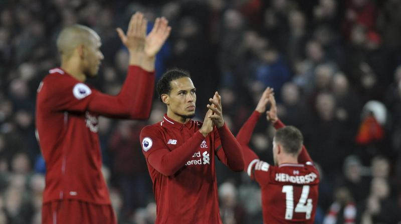 Just when questions were starting to be asked about Liverpool's credentials, the leaders delivered their biggest victory of the season: A 5-0 thrashing of Watford at Anfield. (Photo: AP)