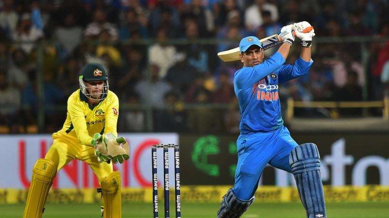 Former India skipper MS Dhoni's heroics went in vain on Wednesday as India lost the second T20I by seven wickets to concede the series to Australia. (Photo: PTI)