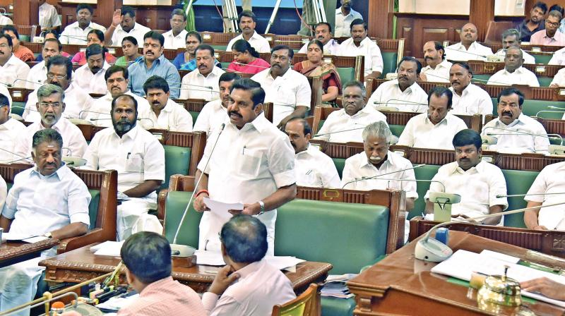 Image result for Edappadi K. Palaniswami in assembly