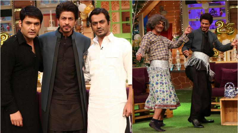 On Tuesday, Shah Rukh Khan appeared on Kapil Sharma's show along with his co-star Nawazuddin Siddiqui to promote their upcoming film 'Raees'.