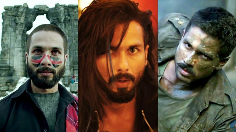 Shahid Kapoor's still from his respective movies.