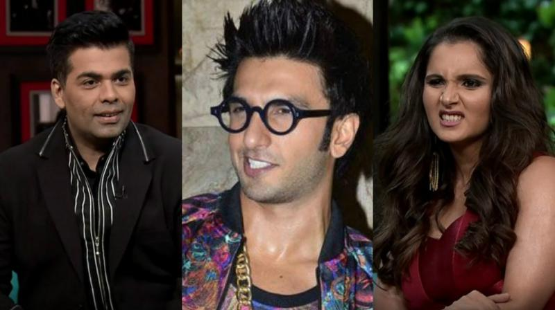 Sania Mirza made her debut on 'Koffee with Karan' alongside side Farah Khan.