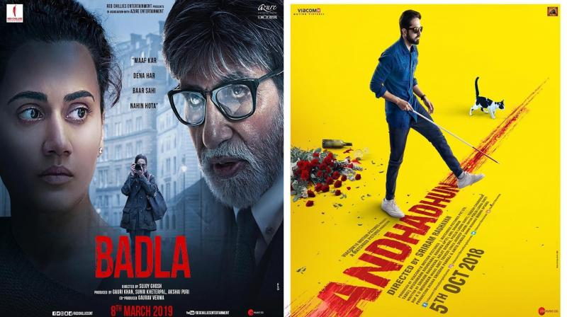 Badla and Andhadhun posters. (Photo: Instagram)