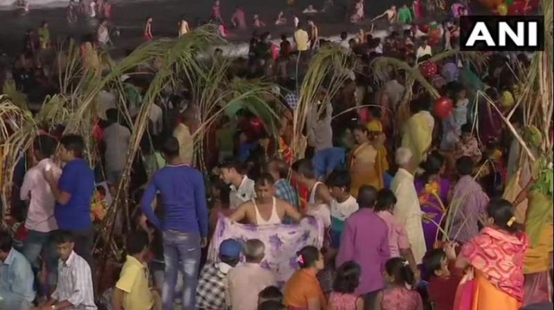 Chhath Puja, dedicated to the Sun god, is celebrated on the sixth day Kartik month of Hindu calendar. (Photo: ANI)