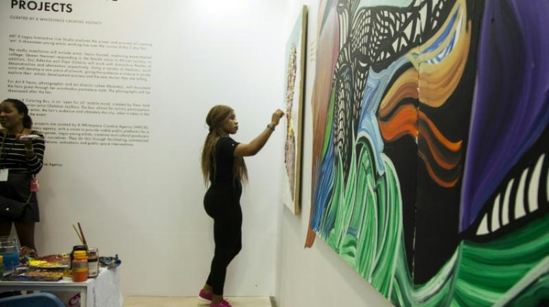 "If the appetite for contemporary African art continues to grow, the majority of works are still sold at ""reasonable"" prices in comparison with the rest of the world. (Photo: AFP)"
