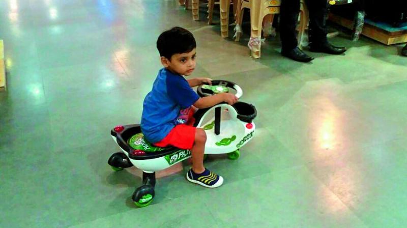 Southeast Big Boys Toys : Hyderabad year old hurt in big bazaar