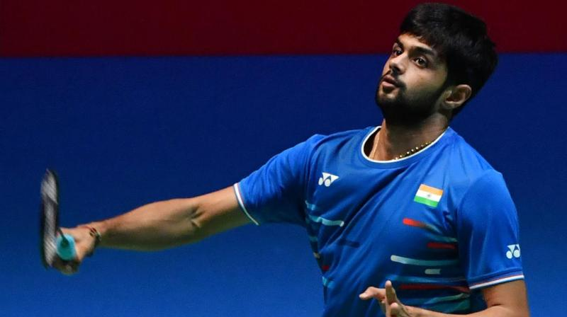 Indian shuttler Sai Praneeth defeated Thailand's Suppanyu Avihingsanon 2-1 in a first-round match of the China Open here on Wednesday. (Photo:AFP)