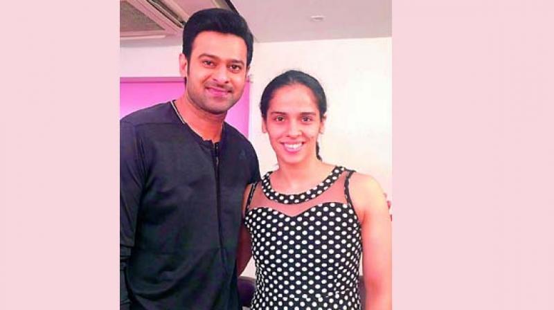 Prabhas and Saina Nehwal