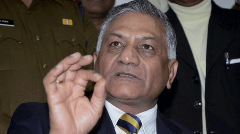 Minister of State for External Affairs General VK Singh (Photo: File/PTI)