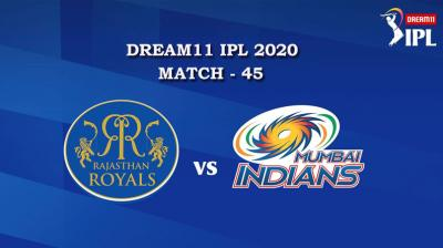 RR VS MI  Match 45, DREAM11 IPL 2020, T-20 Match