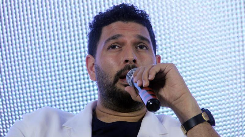 Yuvraj made an emotional return to the game in 2012 after a lengthy fight with a rare germ cell cancer in his lungs and played the last of his 40 tests that same year. (Photo: Mrugesh Bandiwadekar)