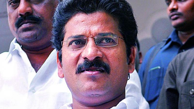 Congress working president A. Revanth Reddy
