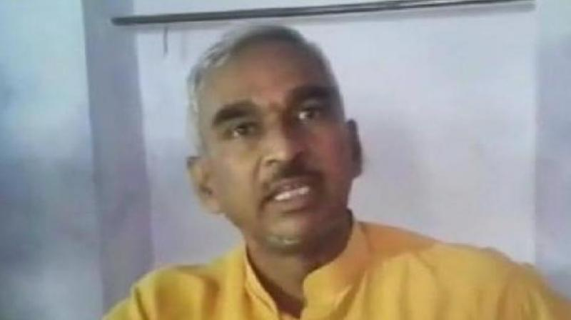 'The 2019 poll are going to be on the lines of Pakistan versus Bharat... Islam versus Bhagwan and so the respected people of the country you have to decide whether it will be Islam which will win or Bhagwan,' JP UP MLA Surendra Singh said. (Photo: ANI)