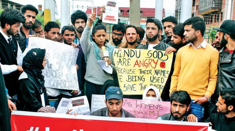 Many come out in protest against Kathua, Unnao rapes