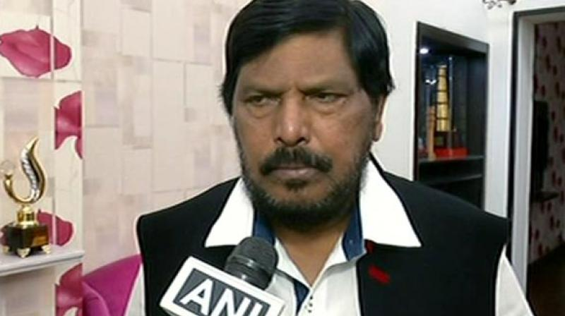 It was also stated that Ramdas Athawale has asked for Mumbai South Central Mumbai constituency from BJP. (Photo: File)