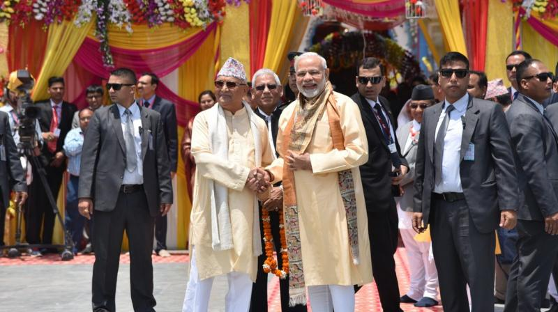 Prime Minister Narendra Modi arrived in Nepal on Friday on a two-day state visit. (Photo: Twitter/@PMOIndia)