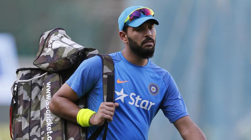 """""""I have been playing international cricket since 2000, it has been almost 17-18 years on and off. So, I will definitely take a call after 2019, """" said Yuvraj Singh. (Photo: AP)"""