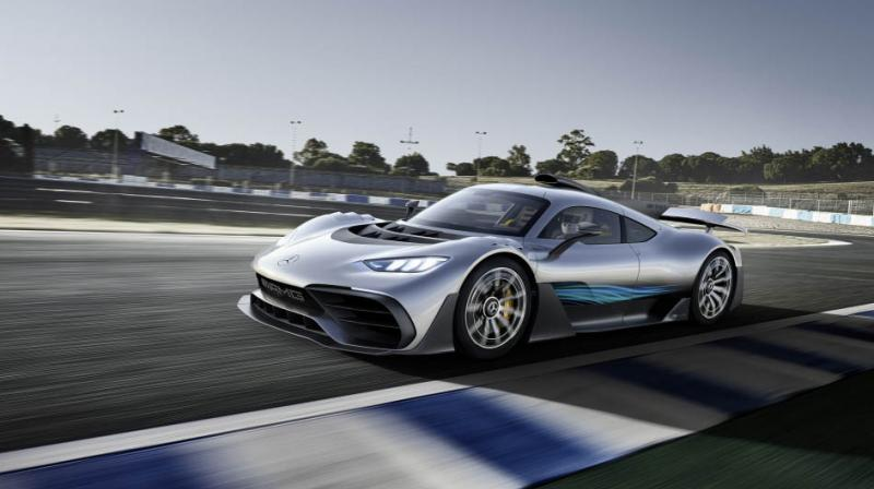 Overall, the four electric motors and the petrol engine produce around a 1000hp.