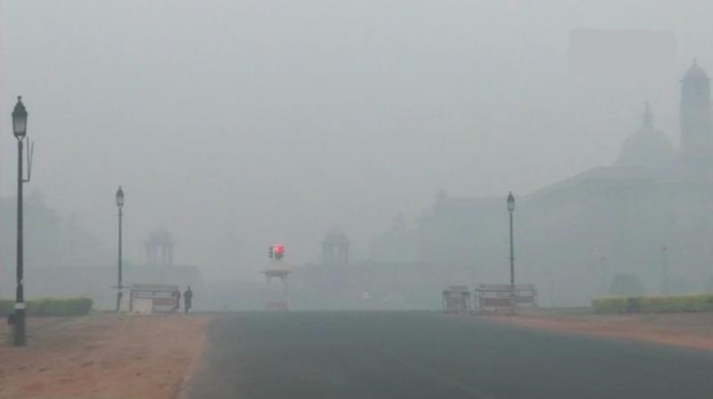 Overall Air Quality Index was recorded at 302 at 11 pm, which fell in very poor category, pollution control board said. (Photo: Twitter | ANI)