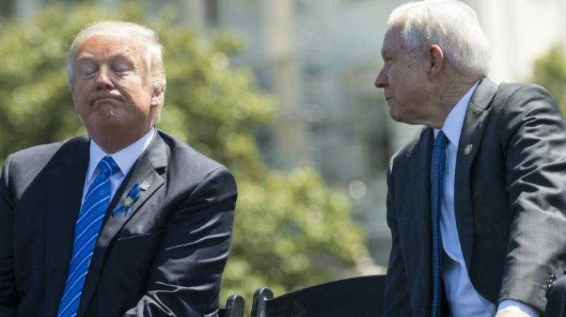 The move capped more than a year of bitter criticism by Trump over Jeff Session's decision to recuse himself from Russia probe paving way for appointment of Special Counsel Robert Mueller. (Photo: File | AFP)