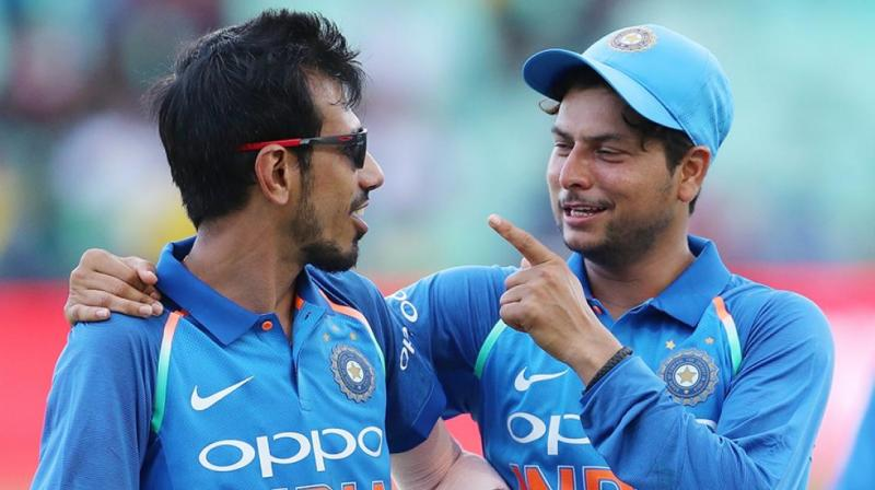 The duo of Kuldeep and Chahal have shared 13 wickets among them from the two ODIs so far. (Photo: BCCI)