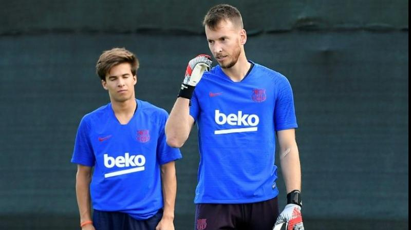 """""""In the last training session, first-team player Neto suffered a bruise on his left wrist,"""" a club statement read. (Photo: AFP)"""