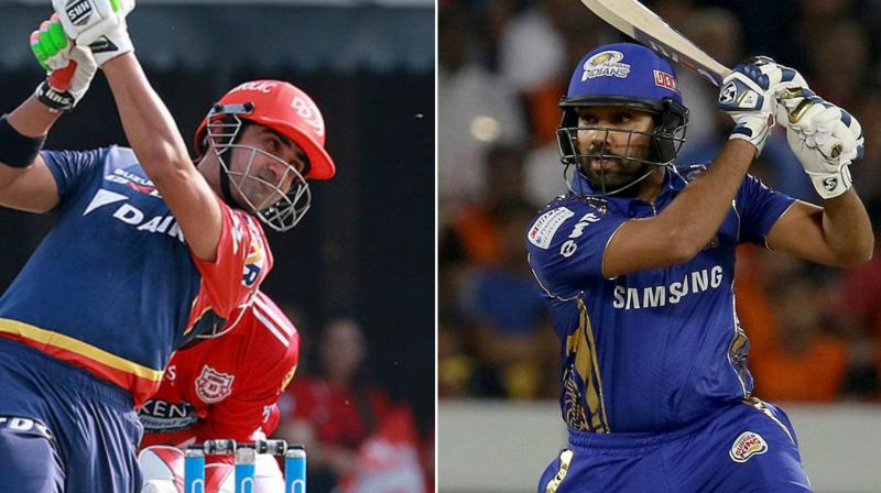 Gautam Gambhir and Rohit Sharma both look to win their first match in this years Indian Premier League