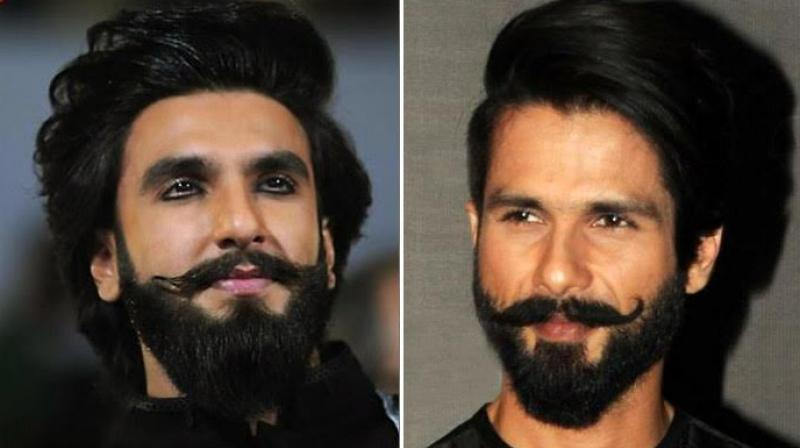 Ranveer Singh, Shahid Kapoor at an event.
