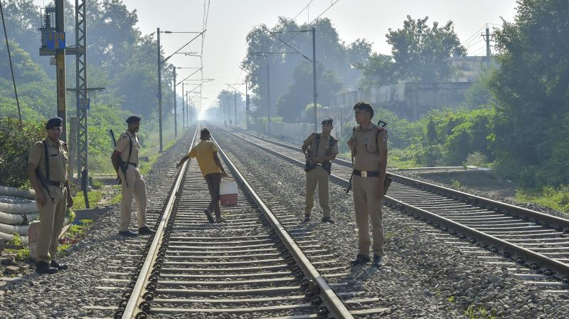 At least 300 people were watching the 'Ravana Dahan' at a ground adjacent to railway tracks when the train struck and ran over people killing at least 61.(Photo: PTI)