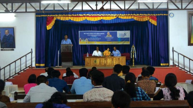 The Youth Parliament was organised by the National Service Scheme (NSS) unit of the CMS College as per the instruction of the Ministry of Youth Affairs and Sports of the Government of India.