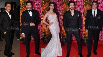 An awards ceremony was held last night and many celebs had glamour written all over them as they slayed in their wear.