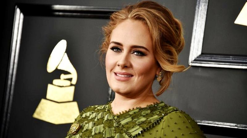 Adele at the 59th annual Grammy Awards at the Staples Center in Los Angeles. (Photo: AP)