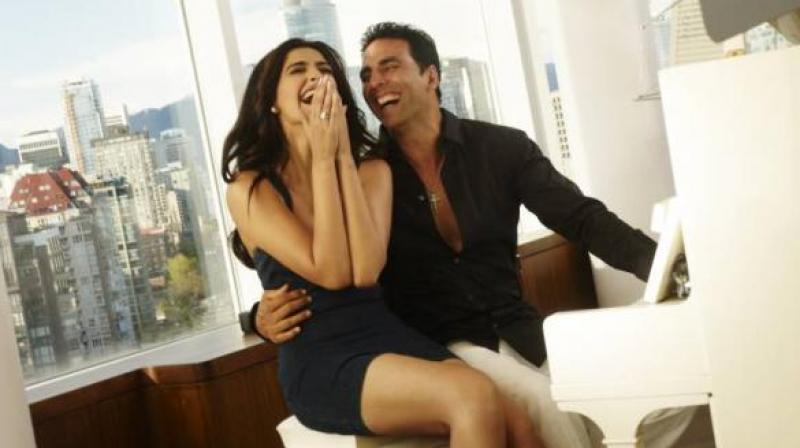 Still from Sonam and Akshay's film 'Thank You'.