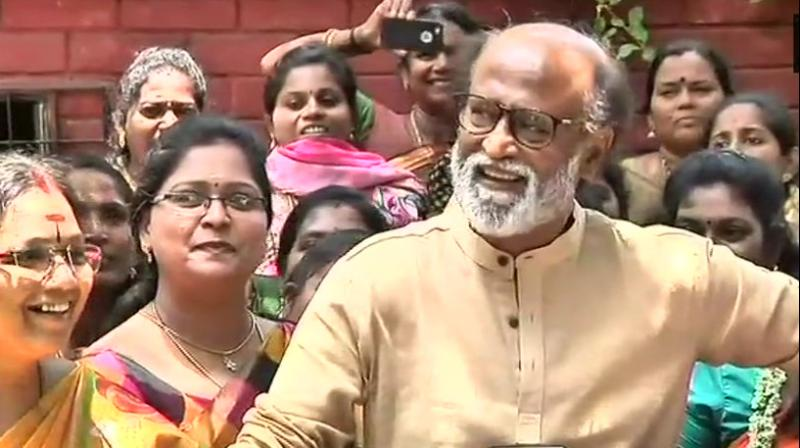 Rajinikanth asked new govt in Karnataka to share Cauvery water with Tamil Nadu in accordance with SC ruling. (Photo: File/ANI)
