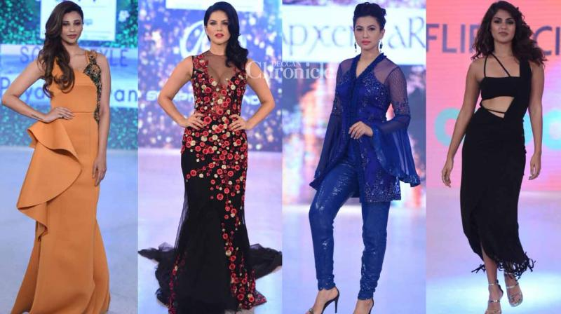Numerous celebrities from B-Town walked the ramp at the India Beach Fashion Week held in Goa on Wednesday. (Photo: Viral Bhayani)