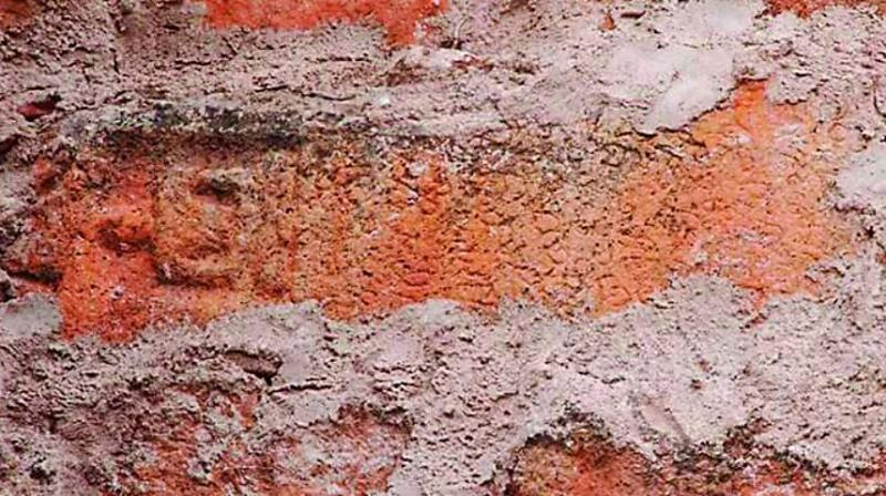 The Jain inscription found on the fort wall