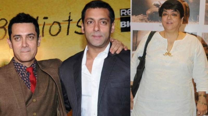 Aamir Khan, Salman Khan and Kalpana Lajmi.