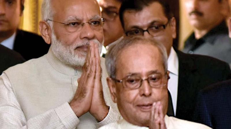 "Prime Minister Narendra Modi in the letter to former President Pranab Mukherjee said, ""Rashtrapati Ji, it has been an honour to work with you, as your Prime Minister."" (Photo: File)"