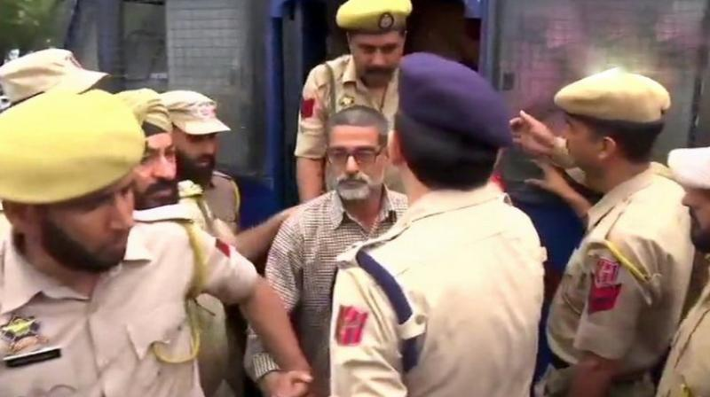 The accused in the Kathua rape and murder case have been produced at District Court. (Photo: Twitter | ANI)