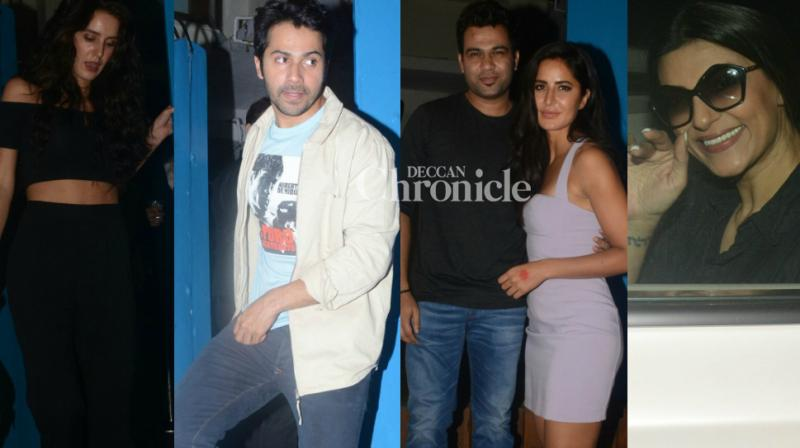 Bollywood stars turned  up for 'Tiger Zinda Hai' director Ali Abbas Zafar's birthday bash held in Mumbai on Wednesday. (Photo: Viral Bhayani)