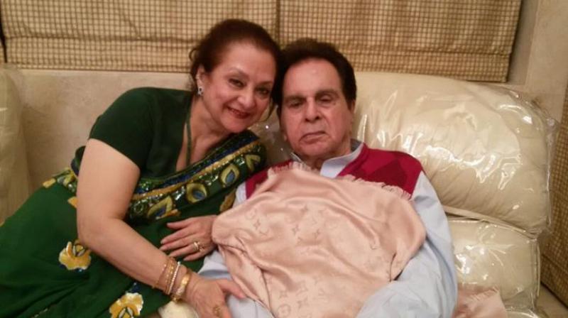 Veteran actor Dilip Kumar with his lovely wife Saira Banu.
