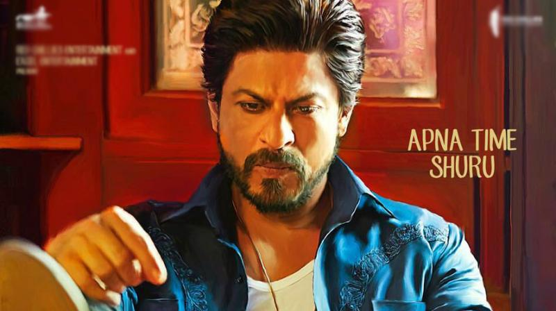 Shah Rukh Khan in new Raees poster.