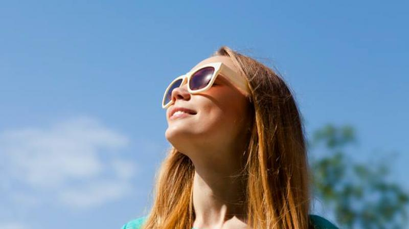 Image result for wearing sunglasses