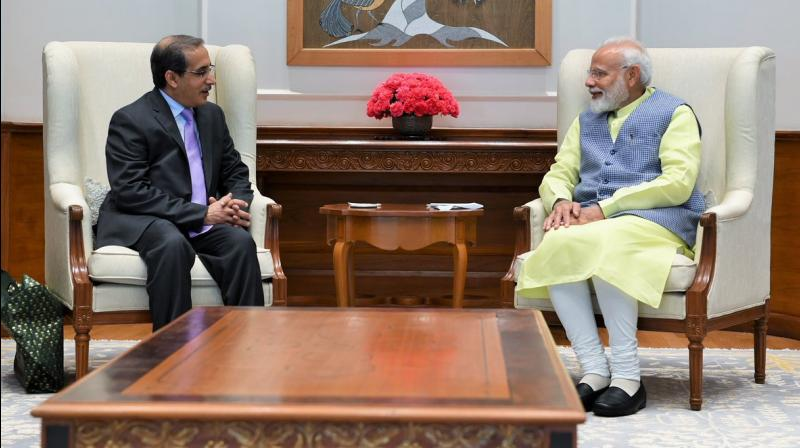 'Dr Saud Mohammed Al-Sati, Saudi Arabia's ambassador to India met PM,' the PMO said while tweeting a picture of the two. (Photo: Twitter)