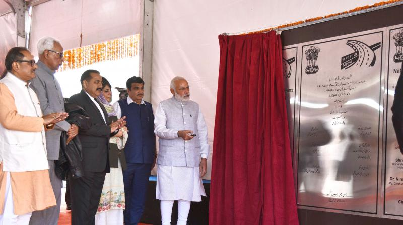 Modi will also address a public rally at Battal Ballian in Udhampur district after inaugurating the tunnel. (Photo: PIB)