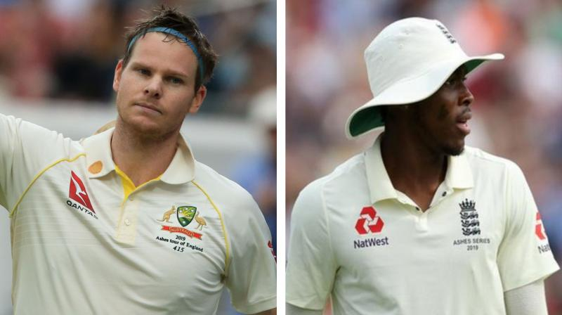England are set give a Test debut at Lord's to World Cup-winning fast bowler Jofra Archer. Steve Smith returned to Test cricket following a 12-month ban for his role in a ball-tampering scandal with innings of 144 and 142 as Australia beat England by 251 runs in the Ashes opener at Edgbaston last week. (Photo:ANI/AFP)