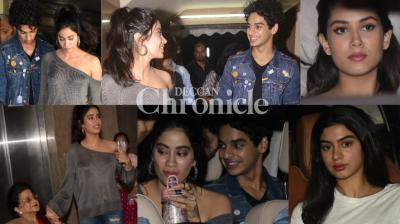 A screening of 'Dhadak' was organised in Mumbai on Thursday where many celebrities were spotted. (Photos: Viral Bhayani)