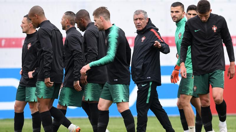 Portugal, who were also celebrating the country's national day on Sunday, kick off their Group B campaign against 2010 world champions Spain in Sochi on June 15. (Photo: AFP)