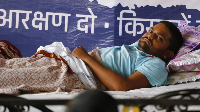 The 25-year-old quota agitation leader was admitted to a hospital after his health deteriorated last Friday. (Photo: File | AP)